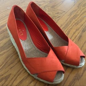 RALPH LAUREN orange wedges